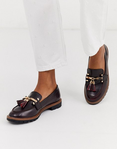 River Island tassel loafer in burgundy-red in red