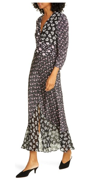 Rixo chelsea mixed floral silk blend dress in micro bunch floral