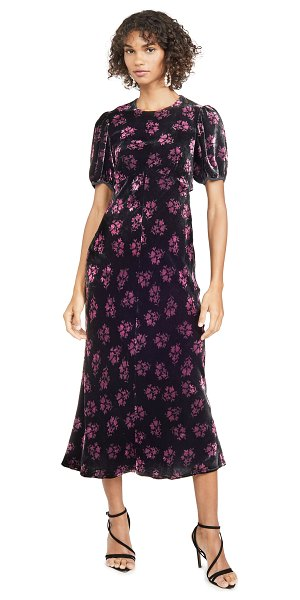 Rixo daisy dress in bunch shadow floral black pink