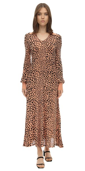 Rixo Piper leopard print silk knit dress in leopard