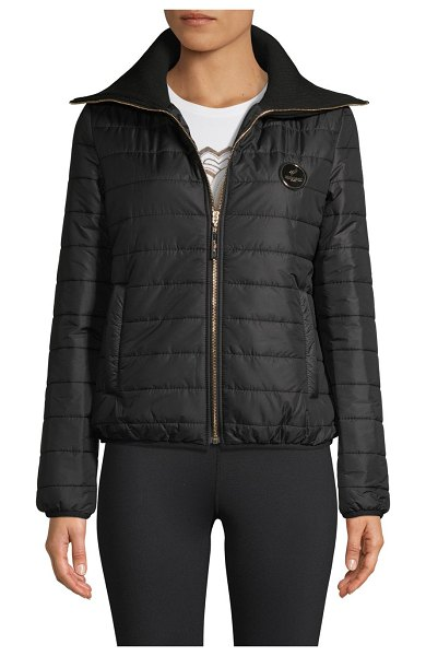 roberto cavalli SPORT Quilted Puff Jacket in black
