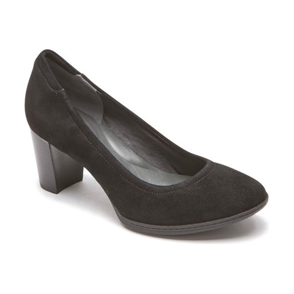 ROCKPORT chaya round toe pump - A roomy round toe adds to the comfort of a generously...