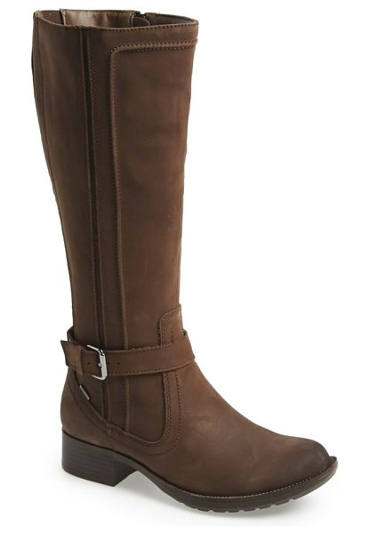 Rockport Cobb Hill 'christy' tall waterproof boot in stone nubuck - Stay dry this winter in a sleek, tall waterproof boot....
