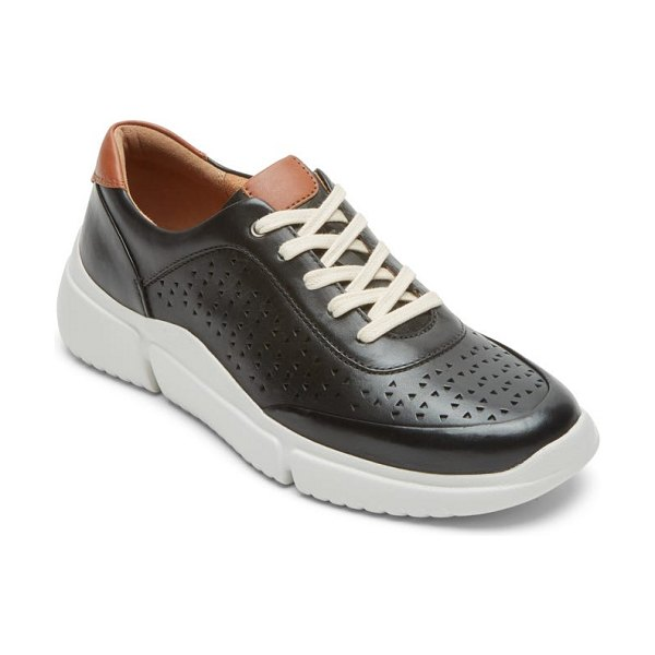 Rockport Cobb Hill juna perforated sneaker in black leather