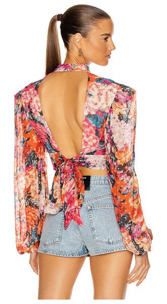 ROCOCO SAND peony top in multi