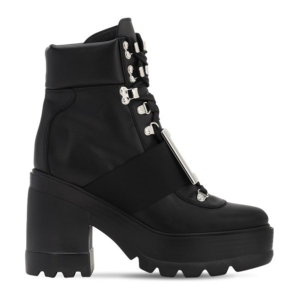Roger Vivier 80mm utility leather boots in black