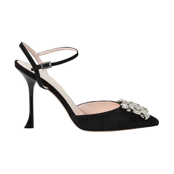 Roger Vivier Bouquet Strass slingback pumps in nero