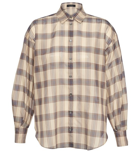 Rokh Check blouse in 732champagne/navy