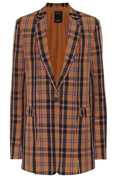 Rokh Plaid blazer in brown - Presented here in a graphic plaid seen throughout the...