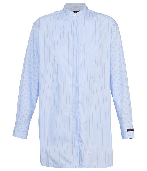 Rokh Tunic in cotton in 117palebluewithredstripe