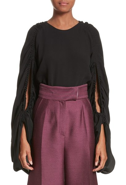 ROKSANDA safiya silk top - Trailing, gathered split sleeves add volume and sway to...