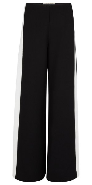 Roland Mouret Cumberland woollen trousers in black / white