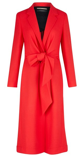 Roland Mouret Hollywell woollen coat in bright red