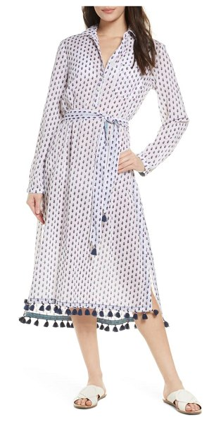 Roller Rabbit pema denae kurta cover-up shirtdress in white