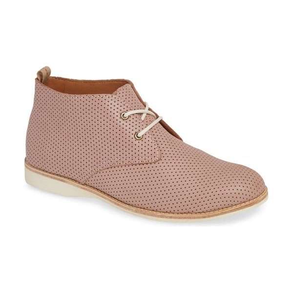 Rollie chukka bootie in blush leather - A classic leopard print brings beautiful color and...