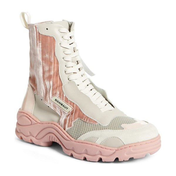 Rombaut boccaccio sneaker bootie in rose - Created exclusively from sustainably engineered...
