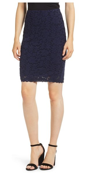 ROSEMUNDE delicia lace skirt in blue - Polished enough for the office and pretty enough for...