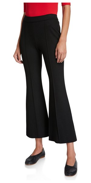 Rosetta Getty Cropped Flare-Leg Trousers in black