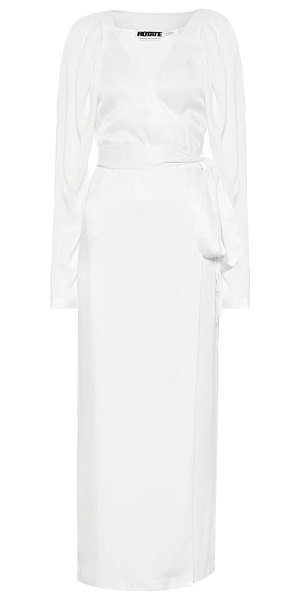 ROTATE BIRGER CHRISTENSEN wrap dress in white