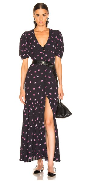 ROTATE floral dress in rose & black