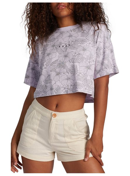 Roxy floral crop top in orchid petal