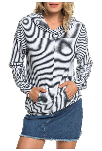 Roxy sandy coast stripe hoodie in dress blue cosy stripes - A classic striped hoodie is all you need to keep you...