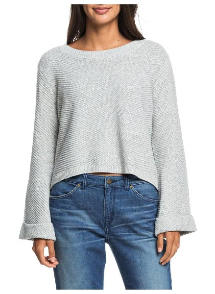 Roxy sorrento shades bell sleeve sweater in heritage heather