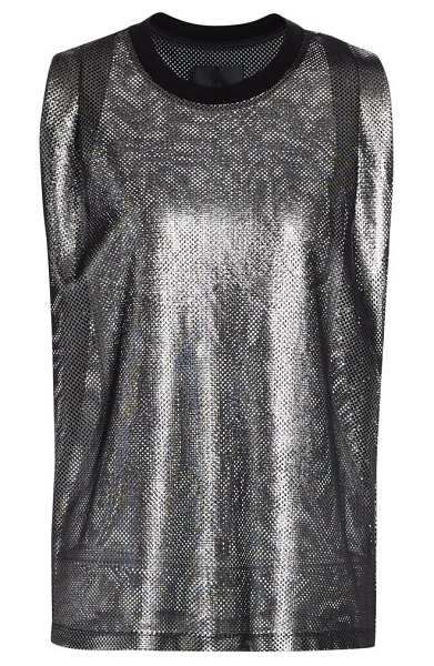 RtA tyler sleeveless mesh top in silver mesh