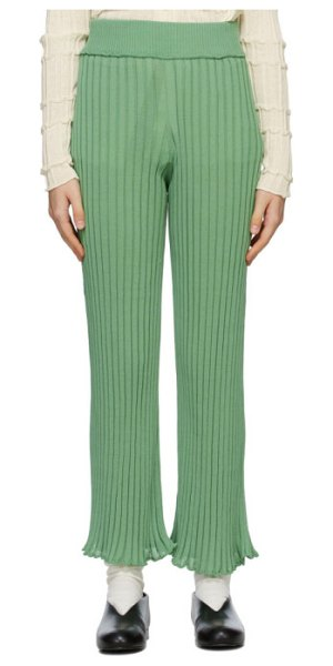 Rus ssense exclusive green ombre lounge pants in matcha