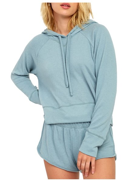 RVCA night off hoodie in lead