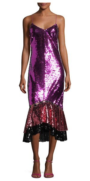 Sachin Babi Cappadocia Tricolor Sequin Mermaid Gown Shopstasy