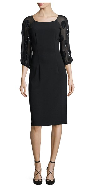 Sachin   Babi Charlotte Sequin Embellished Scoop-Neck Cocktail Dress in jet  - EXCLUSIVELY AT e8826c3a1