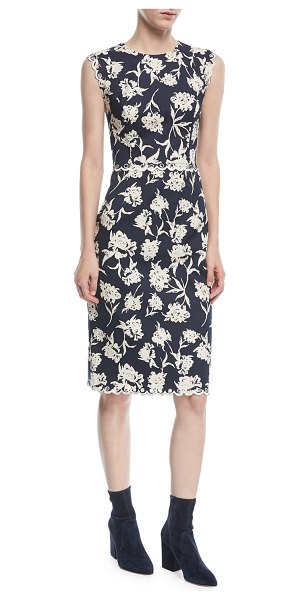 "Sachin & Babi Lillie Scalloped Floral-Print Dress in midnight - Sachin & Babi ""Lillie"" cocktail dress in floral print...."