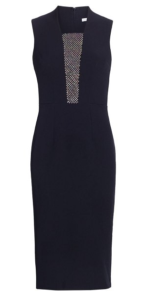 Safiyaa alvia chain link cocktail dress in navy
