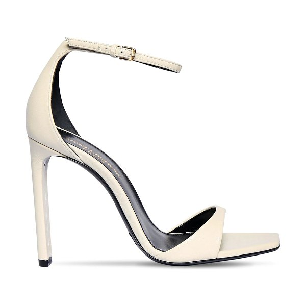 Saint Laurent 105mm bea leather sandals in white