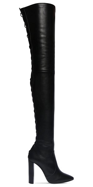Saint Laurent 105mm soixante seize over-the-knee boots in black