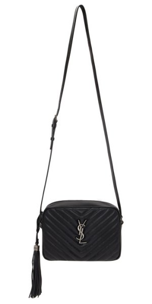 Saint Laurent black lou camera bag in 1000 black