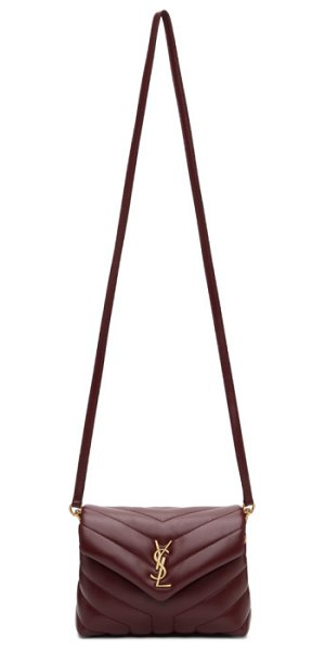 Saint Laurent burgundy toy loulou bag in 6475 red