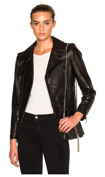 SAINT LAURENT Classic Motorcycle Jacket in black - Self: 100% lambskin leather - Lining: 60% cupro 40%...