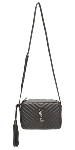 Saint Laurent grey lou camera bag in 1242 asphal