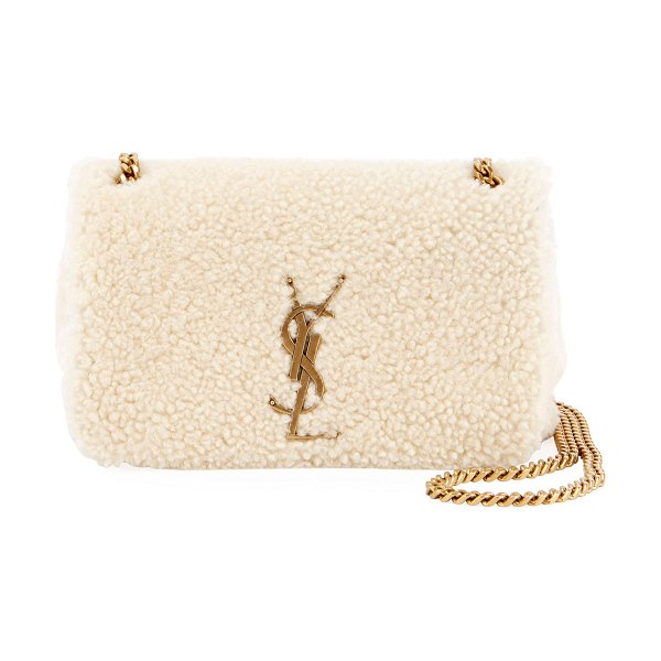 Saint Laurent Kate Monogram Ysl Small Shearling Crossbody Bag in ... aeb169e54a