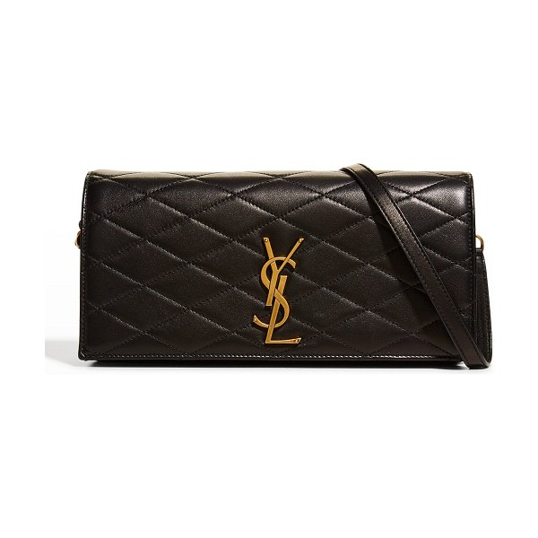 Saint Laurent Kate YSL Quilted Leather Crossbody Bag in 1000 nero