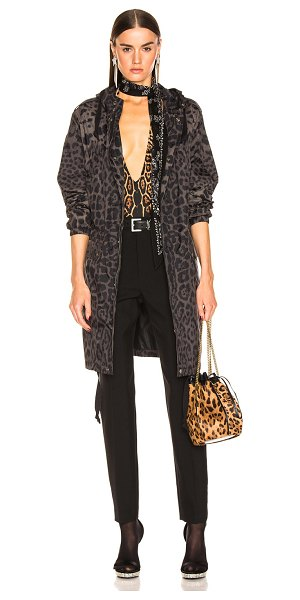 Saint Laurent leopard jacket in militaire