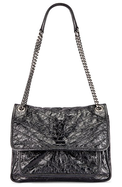 Saint Laurent medium niki chain bag in black