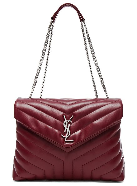 "SAINT LAURENT Medium Supple Monogramme Loulou Chain Bag - ""Quilted calfskin leather with grosgrain lining and brushed..."