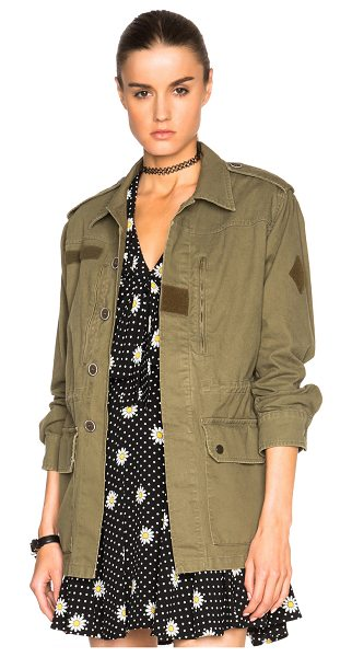 Saint Laurent Military Parka in green - Self: 75% cotton 25% linen - Lining: 100% cotton.  Made...