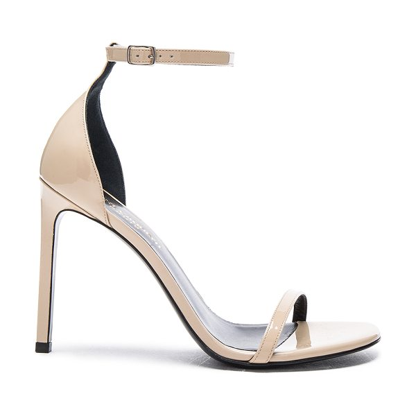 Saint Laurent Patent Leather Jane Sandals in neutrals - Patent leather upper with leather sole.  Made in Italy. ...