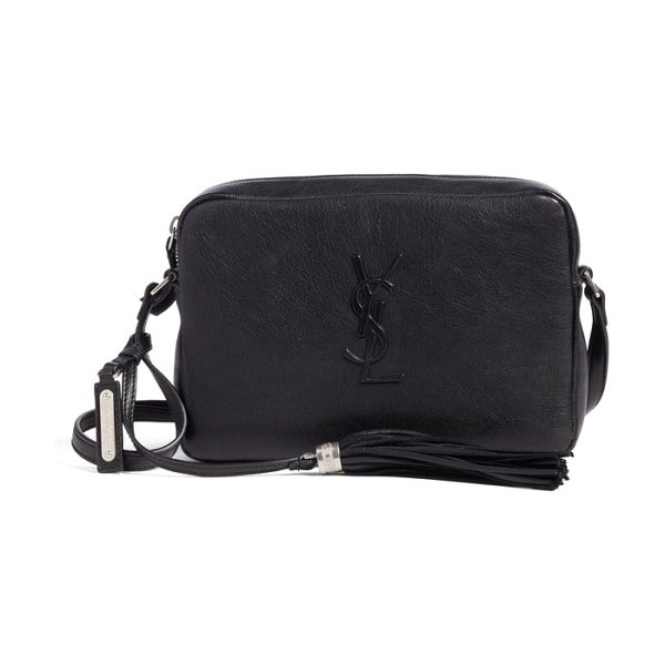 Saint Laurent small mono leather camera bag in noir - A minimalist crossbody bag makes maximum impact with an...