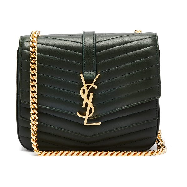 bf633f962f27 Saint Laurent Sulpice Small Leather Bag in dark green - Saint Laurent - Saint  Laurent s Sulpice