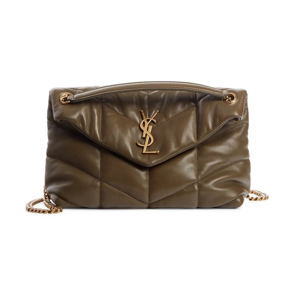 Saint Laurent toy loulou puffer quilted leather crossbody bag in storm
